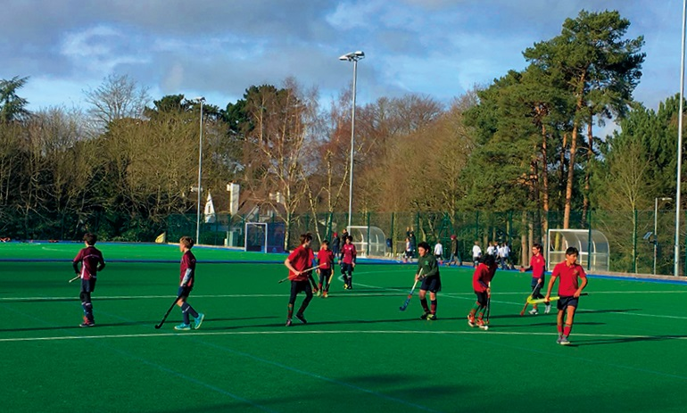 Juniors Playing Hockey